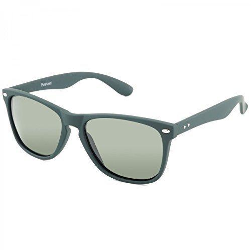 Polarisation Designer Sport Sonnenbrille Wayfarer Brillen Polbrille Sport 20378, Rahmenfarbe:Grün