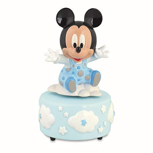 Formoso bomboniera mickey mouse topolino disney carillon celeste con scatola art 69505