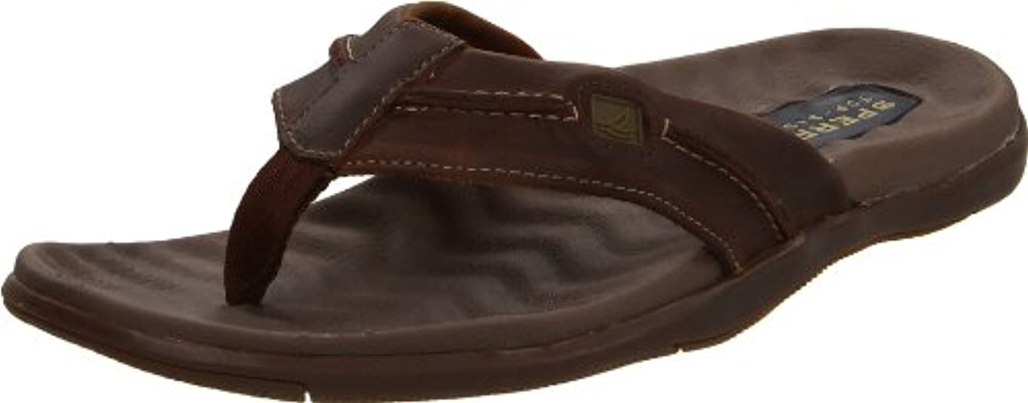 Sperry TopSider Mens Double Marlin Sailboat Thong Brown/Olive US 9 M