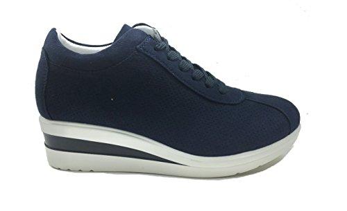 MUDS , Chaussures de ville à lacets pour femme Bleu