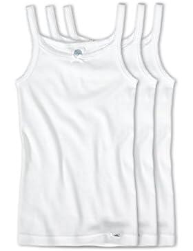 Sanetta Mädchen Unterhemd im 3er Pack 303500 weiss
