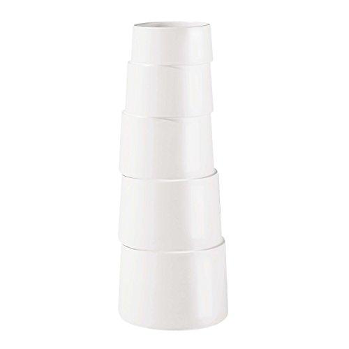 ASA 1069091 Vase Keramik, 17 x 17 x 45 cm, weiß -