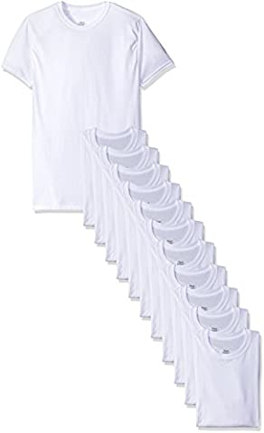 Hanes Red Label Men's Crew T-Shirt, White-12 Pack, X-Large