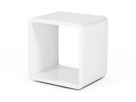 Cube de rangement blanc laqué