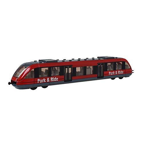 YaPin Modellauto Kinder Spielzeugeisenbahn Modell Hochgeschwindigkeitsbahn Personenwagen Stadt Eisen U-Bahn Zink-legierung Spielzeug Modell Geschenk Sammlung Modellauto Dekoration