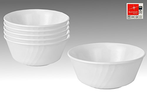 6er Set Bormioli Rocco EBRO Schälchen, Ø 125 mm, 350 ml, Opal-Hartglas
