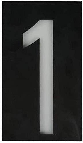 ENLAZY Solar - Hausnummer digitales Licht LED - Adressnummern Plaketten Hausnummernschild Wandschild Solarbetriebenes Nummernschild, 1