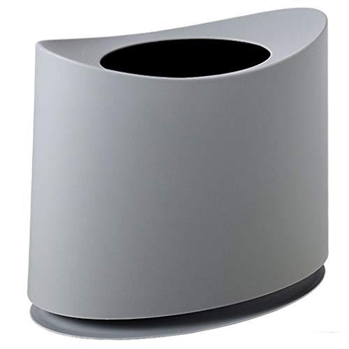Die Öffnung Der Schranken 1.5 (HYBKY Mülleimer Kunststoff Mülleimer, Kleines Desktop-Design Und Hochwertiges PP-Material, Küche, Wohnzimmer, Bad Abfalleimer (Color : Gray))