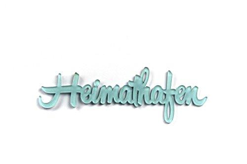 """3D Wandtattoo """"Heimathafen"""" aus Acryl, selbstklebend Türschild, Wanddeko, Geschenk, Made in Germany (sozial & nachhaltig)"""