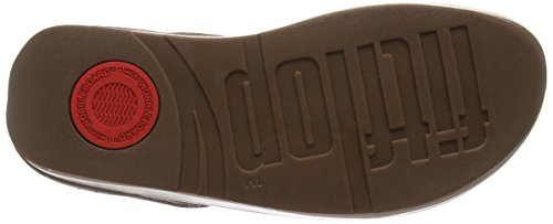 FitFlop - Superchain Leather Toe-post, Scarpe spuntate Donna Beige (Nude)