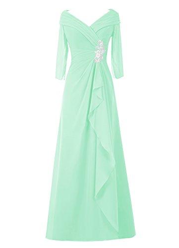 Dresstells, A-ligne robe longue de mère de mariée, robe de soirée, robe de demoiselle d'honneur Menthe