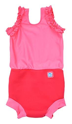 Splash About Mädchen Happy Nappy Kostuem, Pink Geranium, 0-4 Monate