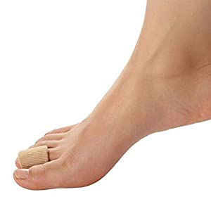 3x Zehenschutz Zehenkappen Zehentrenner Schlauchbandage Silikon Fingerbandage Fingerschutz Zehenpolster Zehenbandage