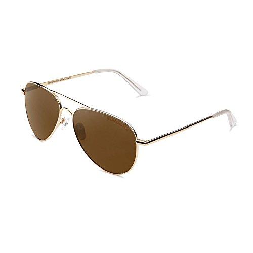 CLANDESTINE Gold Brown - Damen & Herren Polarisierte Sonnenbrillen