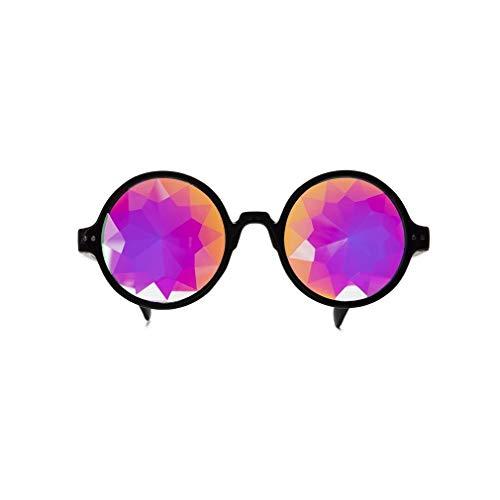 Kaleidoskop Gläser Rave Brille Rainbow Prisma Diffraktion Kaleidoscope Glasses EDM Festival Party Brille ()