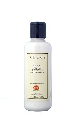KHADI Body Lotion - 210 ml - Rich Essential Oils for Skin Nourishment - Enriched with Apricot & Almond Oil