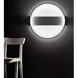 Moderne LED Extravagante Ultradünn DeckenlampeIndustrielle Wind Deckenlampe für Schlafzimmer Wohnzimmer Esszimmer Büro Kinderzimmer, 66CM schwarz 31W weißes Licht