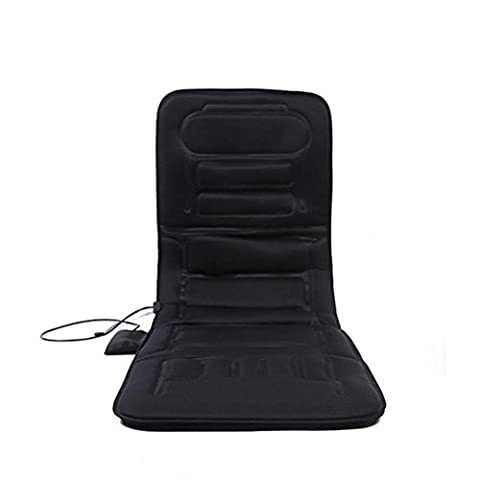 M&MY Matelas de massage de plein air de santé, coussin de massage vibrante puissant pour le dos, l'épaule et les cuisses avec thérapie par la chaleur / Programmes de 5 massages - Soulage la cuisse, l'épaule et le mal au dos,