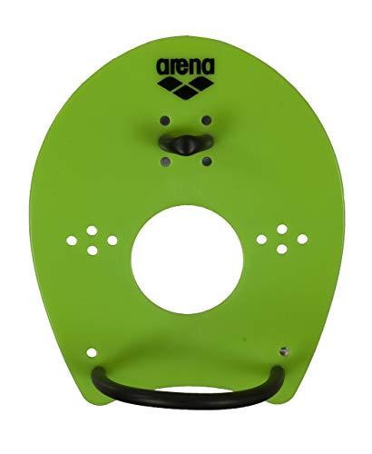 arena Unisex Schwimm Wettkampf Trainingshilfe Hand Paddle Elite für das Techniktraining, grün (Acid Lime-Black), L