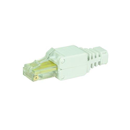LogiLink Professional MP0026 UTP CAT 5e Steckverbinder RJ45 Stecker für eine werkzeugfreie Montage und Konfektionierung, Crimpen ohne Werkzeuge, CAT6 (5e-modular-stecker)
