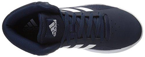Adidas Performance Cloudfoam Ilation Mid Basketballschuh, schwarz / metallic silber / weiÃ?, 6,5 M U Blau