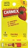 Carmex - Lip Moisturizing Click-Stick with Sunscreen SPF 15 Strawberry Flavor Balm - Lippen Pflegestift