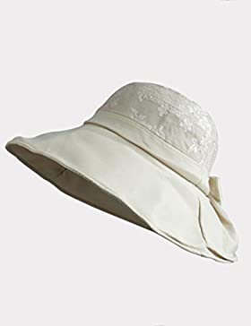 femminile estate cappello di Sun Protezione solare panno del merletto berretto pieghevole tempo libero all'aperto...