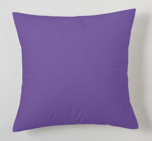 ESTELA - Funda de cojín Combi Lisos Color Lila - Medidas 40x40 cm. - 50% Algodón-50% Poliéster ...