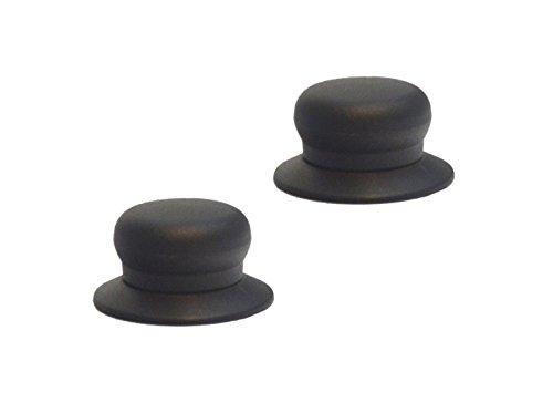 Tirador de repuesto universal para tapa de olla, color negro, apto para muchas marcas., plástico, 2