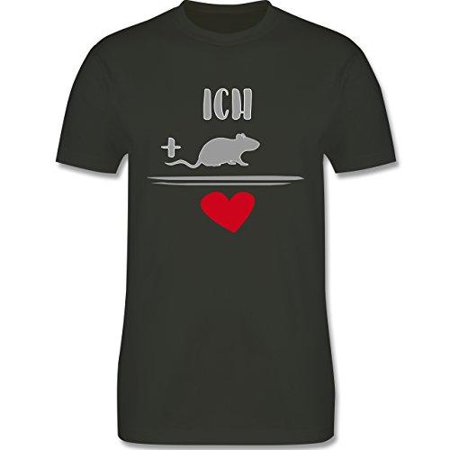 Statement Shirts - Ratten-Liebe - Herren Premium T-Shirt Army Grün
