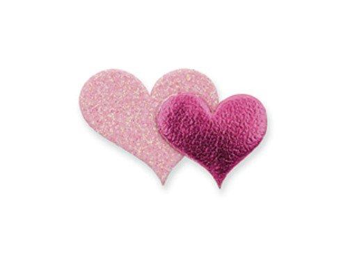Club Green Selbstklebende Glitzer mit Herz, pink, 12pro Blatt -