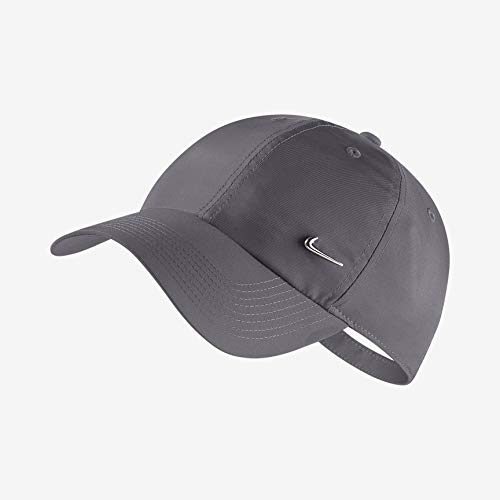 Nike Sportswear Heritage 86 Cap, Dark Grey/Metallic Silver, One Size - Nike Womens Golf Apparel