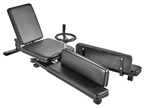 Bad Company Beinspreizer I 198 cm Spannweite I Mechanischer Spagattrainer I Stretching Machine inkl. Transportrollen I BCA-36 (Bein Spreizer)
