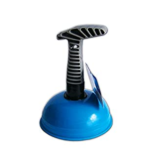 Anik-Shop SAUGGLOCKE Abflussreiniger Abfluss Pömpel Abflusspumpe Gummistampfer Pümpel 62 (Blau)