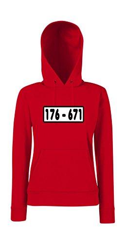 Kapuzenpullover für Frauen - 176-671 Panzerknacker Rot