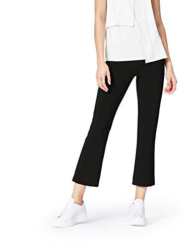 FIND Pantalón de Campana por Media Pierna para Mujer , Negro (Black), 42 (Talla del Fabricante: Large)