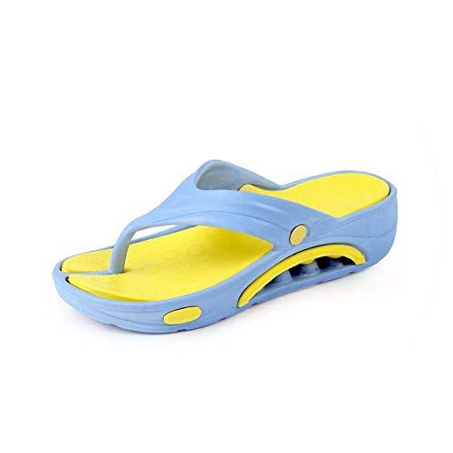 Casual Beach Women Slipper Sandals Brand Summer Home Massage Flat Flip-Flops Shoes,Sky Blue,41