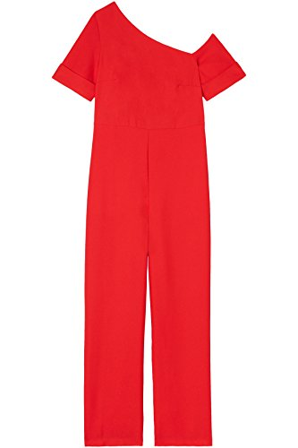 FIND Damen Off Shoulder-Jumpsuit, Rot (Red Tomato Red), 44 (Herstellergröße: XX-Large)