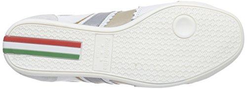 Pantofola d'Oro Pesaro Piceno, Baskets Basses homme Blanc - Weiß (Bright White)
