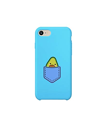 Little Cute Avocado In Pocket MT_003145 Protective Case Handyhulle Handyhülle Schutz Cover Hülle Kompatibel Mit iPhone 8 Funny Gift Christmas Birthday Novelty Pocket Pc Phone