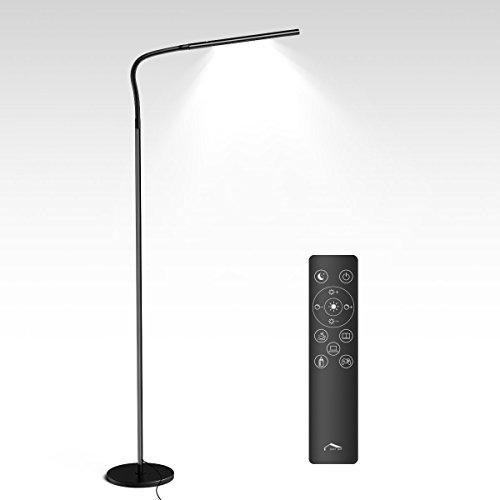 Wellwerks Lámpara de Pie 12W LED Luz Regulable (Control táctil / Control remoto)