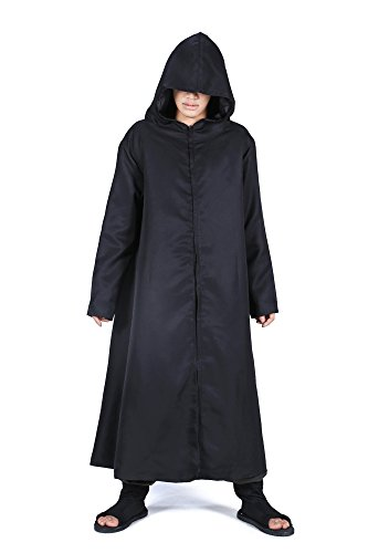 ACGCos Naruto Shippuden Hatake Kakashi Anbu Black Ops Cloak Black Ver (Anbu Kakashi Kostüm)