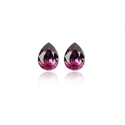 Erica Boucles d'oreilles en or plaqué cristal autrichien scintillant Simple Stud Boucles d'oreilles cadeau parfait pour les femmes #2