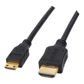 2m HDMI auf Mini-HDMI-Kabel - pro spec (100% Kupfer & ofc Oxygen Free Copper) ~ ~ 1080p Full HD - v1.3 - Audio & Video ~ ideal für HD-Camcorder ~ 24k vergoldet ~ ofc -