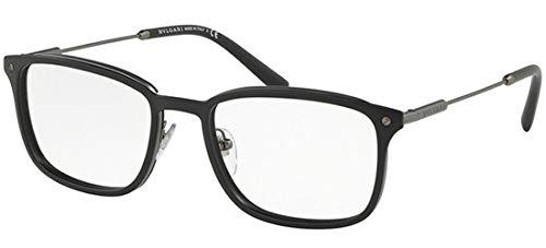 Bulgari Unisex-Erwachsene 0BV 1101 195 54 Sonnenbrille, Schwarz (Matte Black),