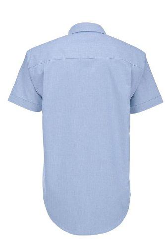 BCSMO02 B&C Oxford Hemd Kurzarm (auch in Übergrößen) Oxford Blue