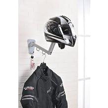 Perchero/colgador de acero articulado para casco, chaleco, chaqueta, etc, de