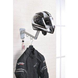 Perchero/colgador de acero articulado para casco, chaleco, chaqueta, etc, de pared, accesorio...