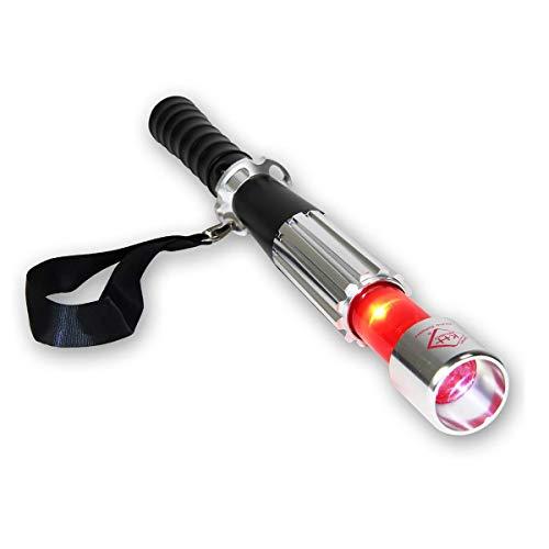 kh security hochleistungs-LED Stab-Taschenlampe Compact, inklusive Stroboskoplicht und rotes Warnlicht, 160163