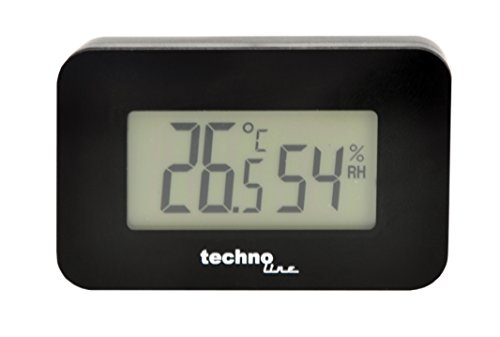 Technoline WS 7009 - Estación meteorológica Negro, °C, Digital, Batería, CR2032, 52 mm